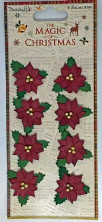 Poinsettia Flowers from The Magic of Christmas Range by Dovecraft